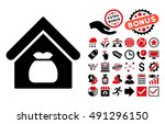 harvest warehouse icon with... | Shutterstock . vector #491296150