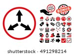 expand arrows pictograph with... | Shutterstock . vector #491298214