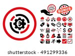 euro diagram options icon with... | Shutterstock . vector #491299336