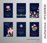 set of six vertical business... | Shutterstock .eps vector #491300830