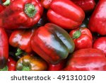 picture of red bell peppers... | Shutterstock . vector #491310109