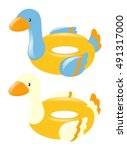 Swim Rings Shape Of Duck...