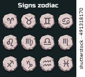 signs of the zodiac on the old...