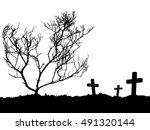 Grave  Silhouette Of Three...