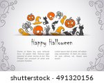 invitation with hidden symbols... | Shutterstock .eps vector #491320156