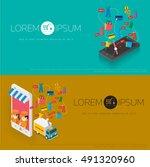 vector concept of  online shop | Shutterstock .eps vector #491320960