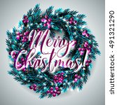 merry christmas party... | Shutterstock .eps vector #491321290