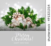 merry christmas party... | Shutterstock .eps vector #491321314