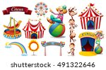 circus set with games and... | Shutterstock .eps vector #491322646