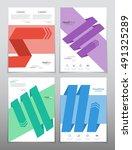 vector design for cover report... | Shutterstock .eps vector #491325289