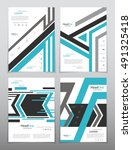 vector design for cover report... | Shutterstock .eps vector #491325418