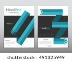 vector design for cover report... | Shutterstock .eps vector #491325949