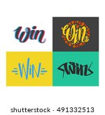 win text vector  | Shutterstock .eps vector #491332513