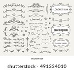 original frames and scroll... | Shutterstock .eps vector #491334010