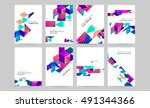 geometric background template... | Shutterstock .eps vector #491344366