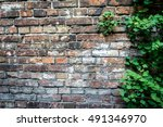 fragment of the wall enclosing... | Shutterstock . vector #491346970