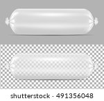 white empty plastic packaging... | Shutterstock .eps vector #491356048