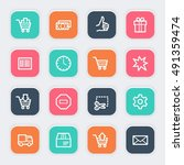 shopping web icons | Shutterstock .eps vector #491359474