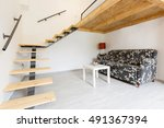 hostel apartment interior with... | Shutterstock . vector #491367394