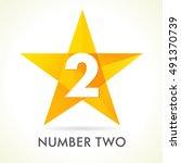 number two star logo. vector...   Shutterstock .eps vector #491370739