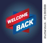 Welcome Back Arrow Tag Sign.
