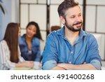 smiling businessman looking...   Shutterstock . vector #491400268