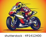 hand drawing style of... | Shutterstock .eps vector #491412400