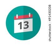 simple flat design calendar...