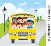 vector illustration of happy... | Shutterstock .eps vector #491432104