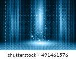 futuristic technology  binary...   Shutterstock . vector #491461576