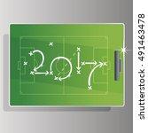 soccer strategy goal 2017 green ... | Shutterstock .eps vector #491463478