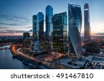 evening lights of moscow... | Shutterstock . vector #491467810