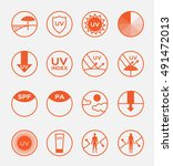 uv protection logo vector and...   Shutterstock .eps vector #491472013