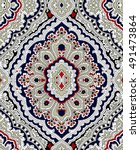 rich paisley wallpaper... | Shutterstock .eps vector #491473864