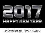 happy new year 2017  ... | Shutterstock .eps vector #491476390