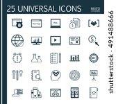 set of universal icons on task... | Shutterstock .eps vector #491488666