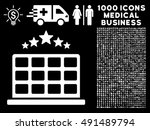 hotel stars icon with 1000...