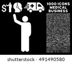 hello pose icon with 1000... | Shutterstock .eps vector #491490580