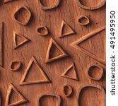 3d pattern   wood texture ... | Shutterstock . vector #491495950
