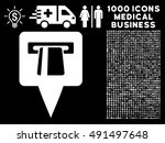 atm pointer icon with 1000... | Shutterstock .eps vector #491497648