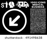 arrow left down icon with 1000... | Shutterstock .eps vector #491498638