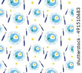 vector seamless pattern with... | Shutterstock .eps vector #491510683