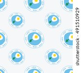 vector seamless pattern with... | Shutterstock .eps vector #491510929
