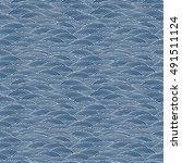 waves pattern. vector seamless... | Shutterstock .eps vector #491511124
