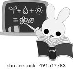 the rabbit which does the... | Shutterstock .eps vector #491512783