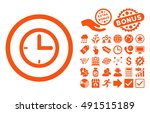 time icon with bonus icon set.... | Shutterstock .eps vector #491515189