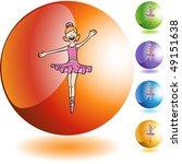ballerina girl | Shutterstock .eps vector #49151638