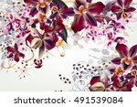 fashion vector background with... | Shutterstock .eps vector #491539084