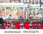 Market In Amsterdam Flowers An...