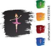 ballerina girl | Shutterstock .eps vector #49155565